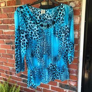 Women's curvy size blouse